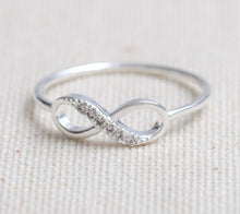 Infinity Ring Cz accents