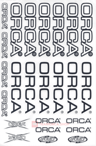 ORCA STICKER - TRANSFER - OSTK100W