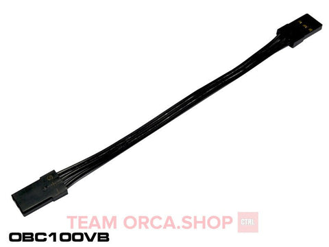 ORCA BEC Cable 100mm JR connector (R32/VX3) - Black OBC100VB