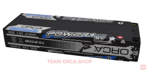 ORCA 2017 POWERPLUS HV LCG 5500mah 7.6v 100C Low Profile 5mm Plugs 2cells OPL551HV