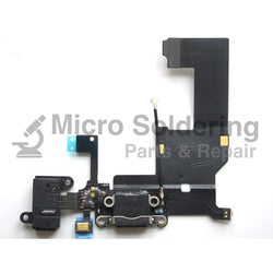 iPhone 5 Black Charging Port Flex with mic and headphone jack