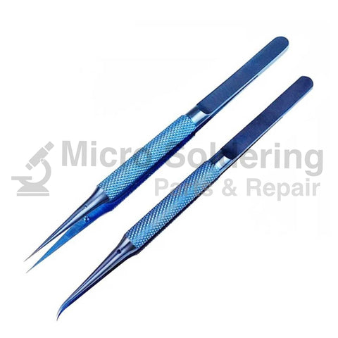 Precision 0.15mm Titanium Alloy Tweezers for Making Jumpers on Motherboard