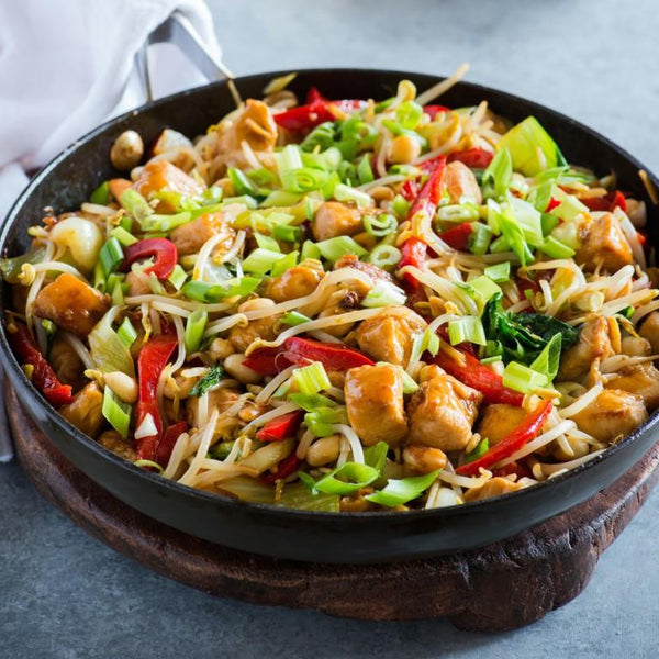 ASIAN CHICKEN STIRFRY WITH BROWN RICE & QUINOA