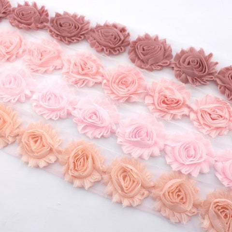 Shabby flower trim in dusty pink baby pink powder pink and pale shabby flower trim in dusty pink baby pink powder pink and pale peach x mightylinksfo