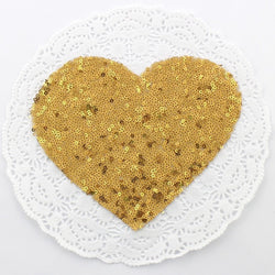 GOLD HEART SEQUIN APPLIQUE