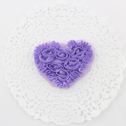 SMALL PURPLE CHIFFON HEART APPLIQUES