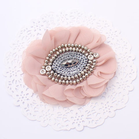 """CLEO"" CHIFFON BEADED FLOWER"