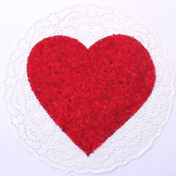 RED HEART SEQUIN APPLIQUE