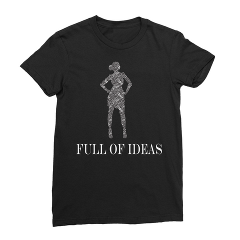 alloverprint.it Apparel Female / S / Black Full of Ideas Women's T-Shirt