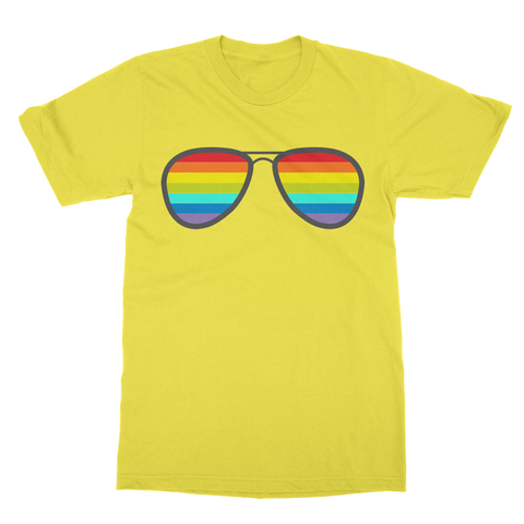 alloverprint.it Apparel Unisex / S / Daisy Pride Shades Softstyle Ringspun T-Shirt