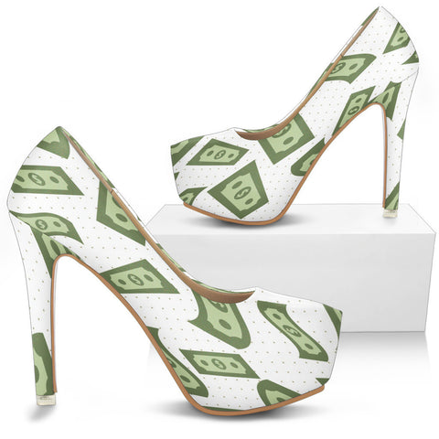 Creative Kickz Shoes Dollar Bills Heels