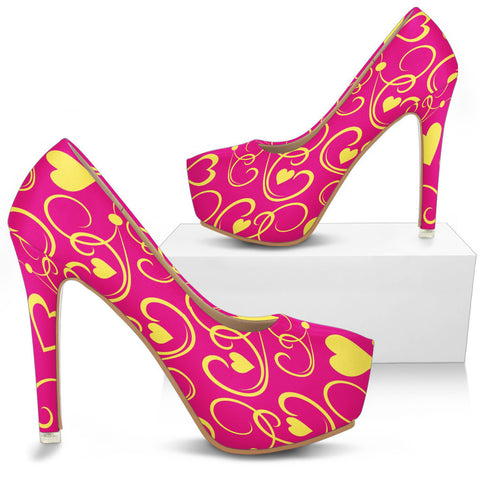 Creative Kickz Shoes Love Hearts Heels