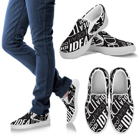 Creative Kickz Shoes Men's Slip Ons / US8 (EU40) Full of Ideas Slip On