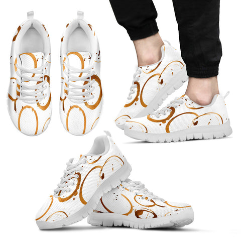 Creative Kickz Shoes Men's Sneakers / US5 (EU38) Coffee Stains Sneakers