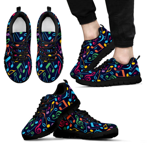 Creative Kickz Shoes Men's Sneakers / US5 (EU38) Colorful Notes Sneakers