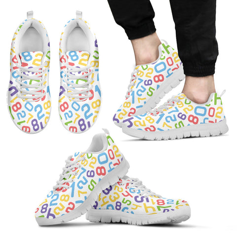 Creative Kickz Shoes Men's Sneakers / US5 (EU38) Numbers Colorful Sneakers