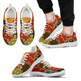 Creative Kickz Shoes Men's Sneakers / US5 (EU38) Robots Red Sneakers