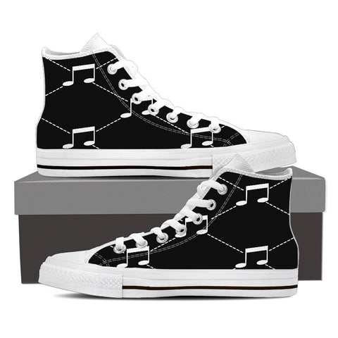 Creative Kickz Shoes Mens High Top / US8 (EU40) B & W Note High Top