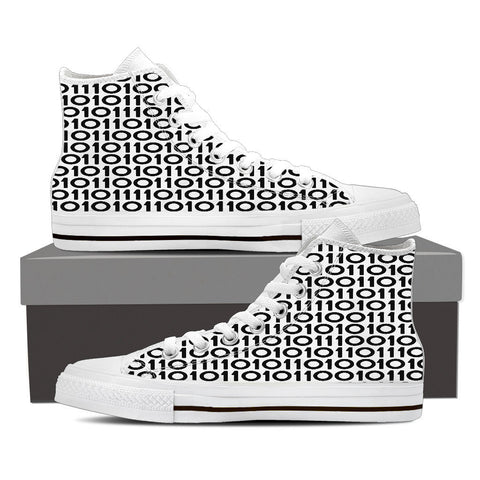 Creative Kickz Shoes Mens High Top / US8 (EU40) Binary B&W High Top