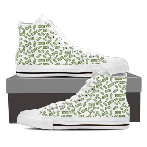 Creative Kickz Shoes Mens High Top / US8 (EU40) Dollar Bills High Top