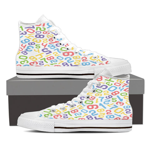 Creative Kickz Shoes Mens High Top / US8 (EU40) Numbers Colorful High Top