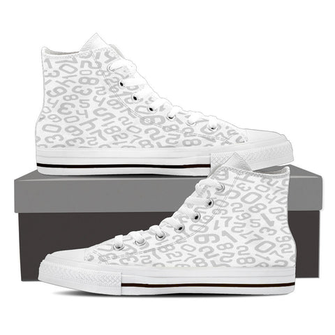 Creative Kickz Shoes Mens High Top / US8 (EU40) Numbers White High Top