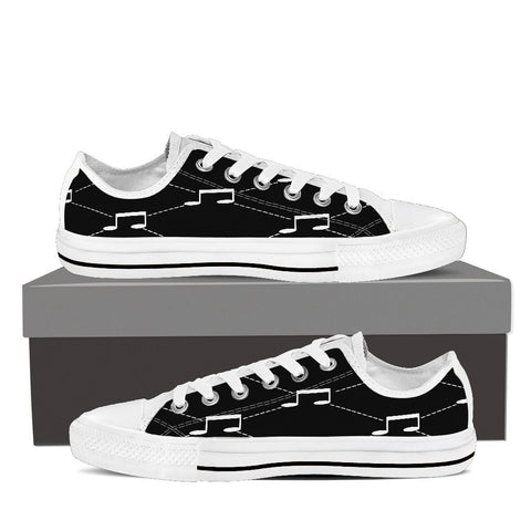 Creative Kickz Shoes Mens Low Top / US8 (EU40) B & W Note Low Top