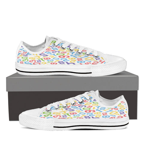 Creative Kickz Shoes Mens Low Top / US8 (EU40) Numbers Colorful Low Top