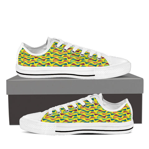 Creative Kickz Shoes Mens Low Top / US8 (EU40) Textured Triangles Low Top