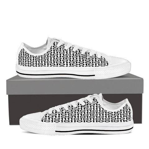 Creative Kickz Shoes Mens Low Top - White - Binary B&W Low Top / US8 (EU40) Binary B&W Low Top