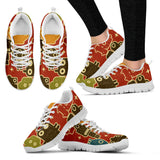 Creative Kickz Shoes Women's Sneakers / US5 (EU35) Robots Red Sneakers