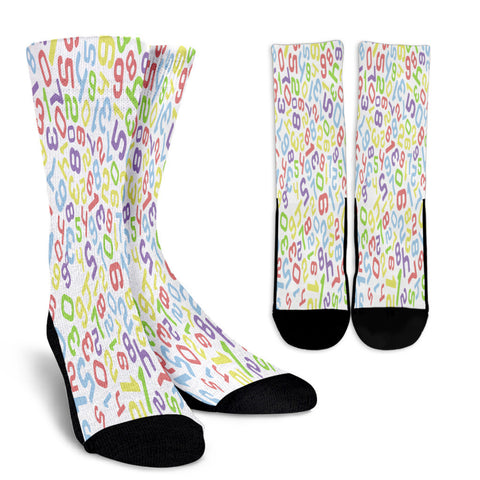 Creative Kickz Socks Numbers Colorful