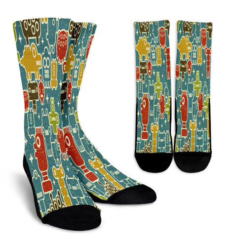Creative Kickz Socks Robots Blue