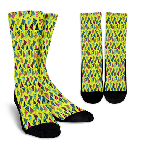 Creative Kickz Socks Textured Triangles