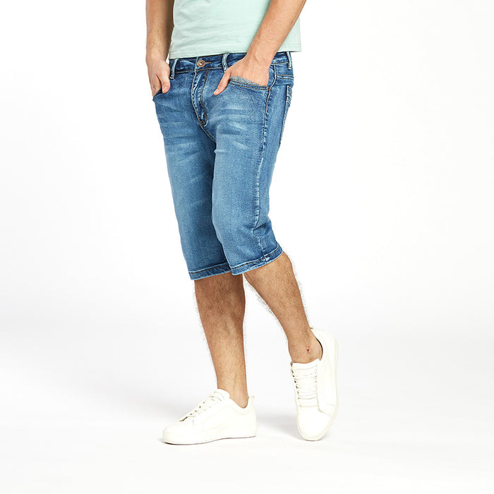 1a092546c49 ... Drizzte Brand Mens Summer Stretch Lightweight Thin Denim Jeans Short  for Men Jean Shorts Pants Plus ...