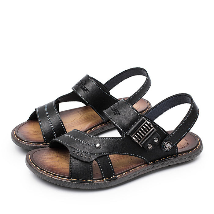 f4547afd4e27fa OUDINIAO Mens Shoes Patent Leather Designer Sandals Summer Slipper Men  Shoes Beach Breathable Elastic Gladiator Slip