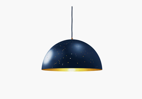 Yellow Diva Firmament hand engraved constellation pendant lamp
