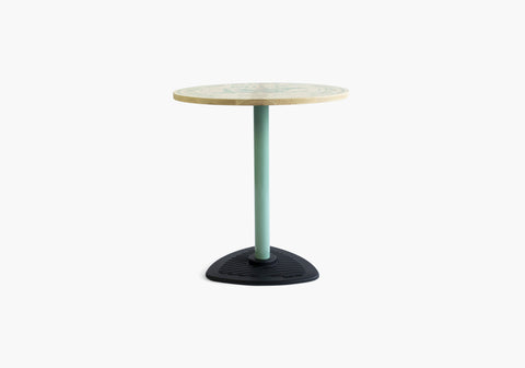 Yellow Diva Milker timber steel pedestal round table colour