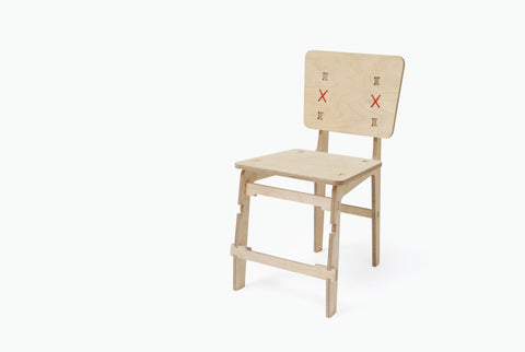Yellow Diva flat pack plywood chair