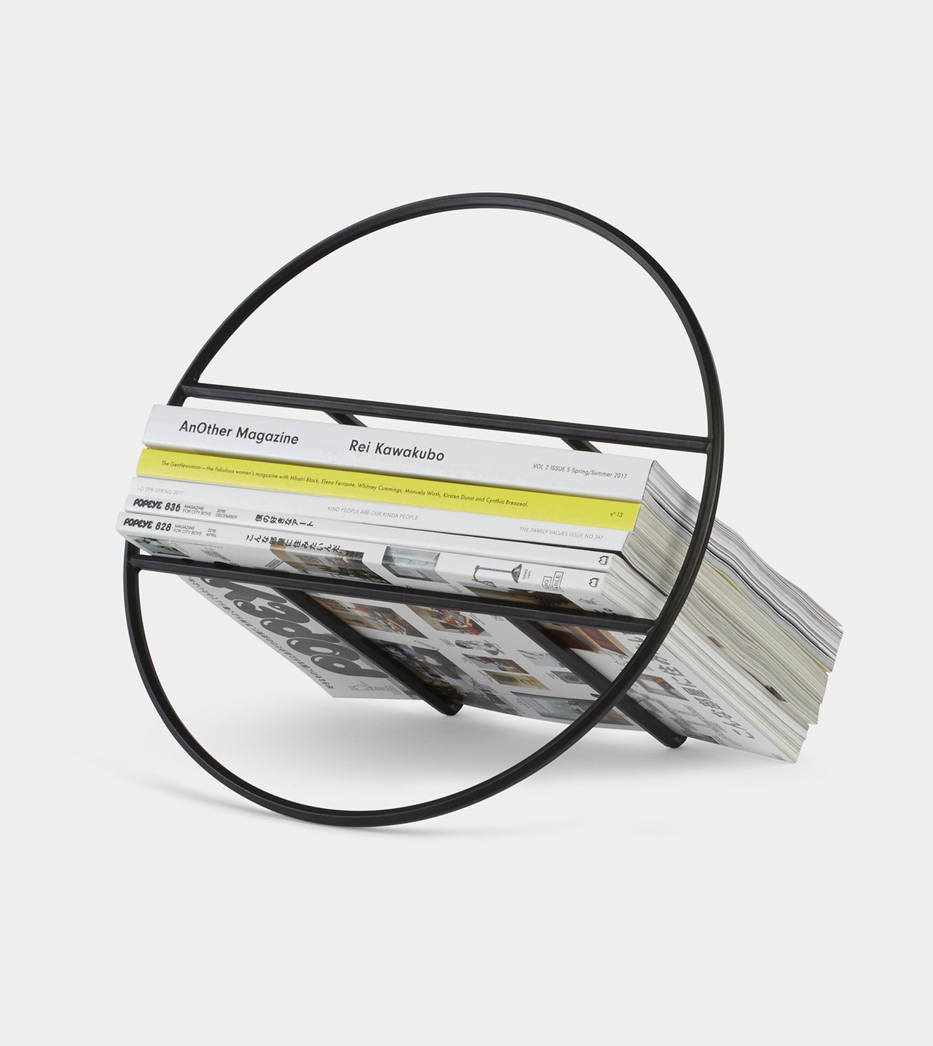 magazine rack, black magazine rack, unique magazine rack, record storage, umbra shift Australia