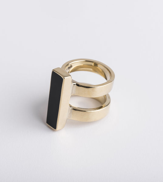 fashion ring, designer ring, Soko Australia, designer unique jewellery Australia, Horn Bar Ring