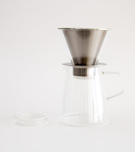 Coffee Dripper Pot and jug, Kinto coffee pot, slow drip coffee pot, home coffee