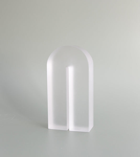 glass bookend, danish design bookend, hubsch australia, unique glass bookend, solid glass bookend