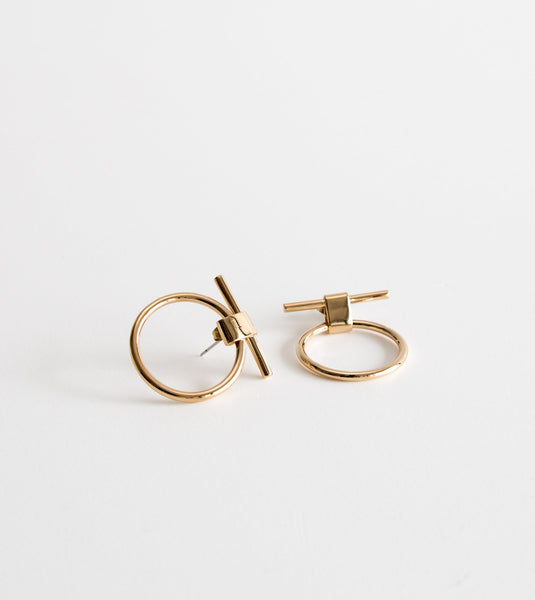 Isle Stud Earring, brass earrings, unique ethical jewellery, Soko jewelry Australia, Soko australia