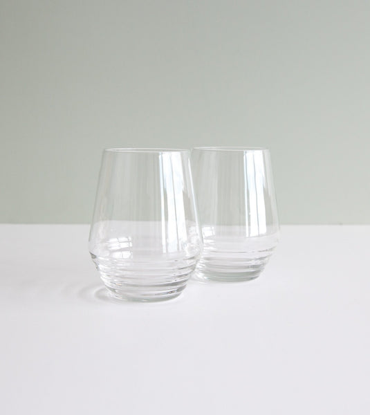 cocktail glass set, stemless wine glass, designer water glass, barware australia, essential glasses