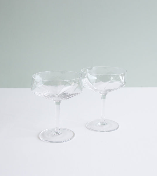 art deco cocktail glasses, cocktail glass set, unique cocktail glasses, cocktail glass gift
