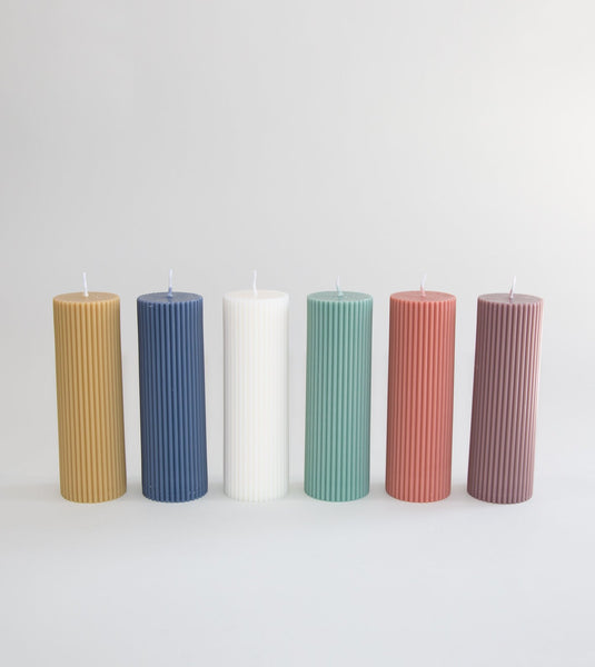 black blaze pillar candle, wide pillar candle, pillar candle, styling candle australia