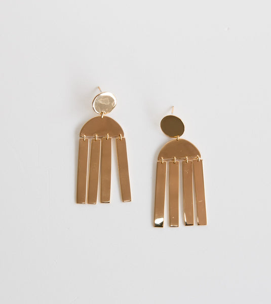 Soko jewelry Australia, statement dangle earrings, gold dangle earrings, ethical jewellery, soko