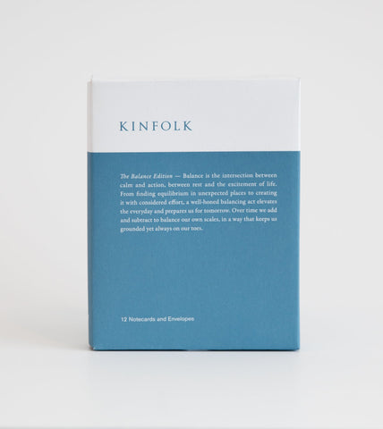 Kinfolk 12 Pack Blank Notecards - Balance