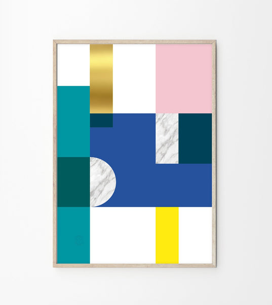 art print, affordable art, modern art deco, abstract art print, Spanish design